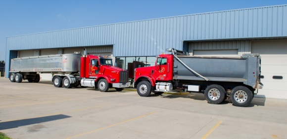 A Plus Trucking, A Plus Trucking delivers large volume orders in a